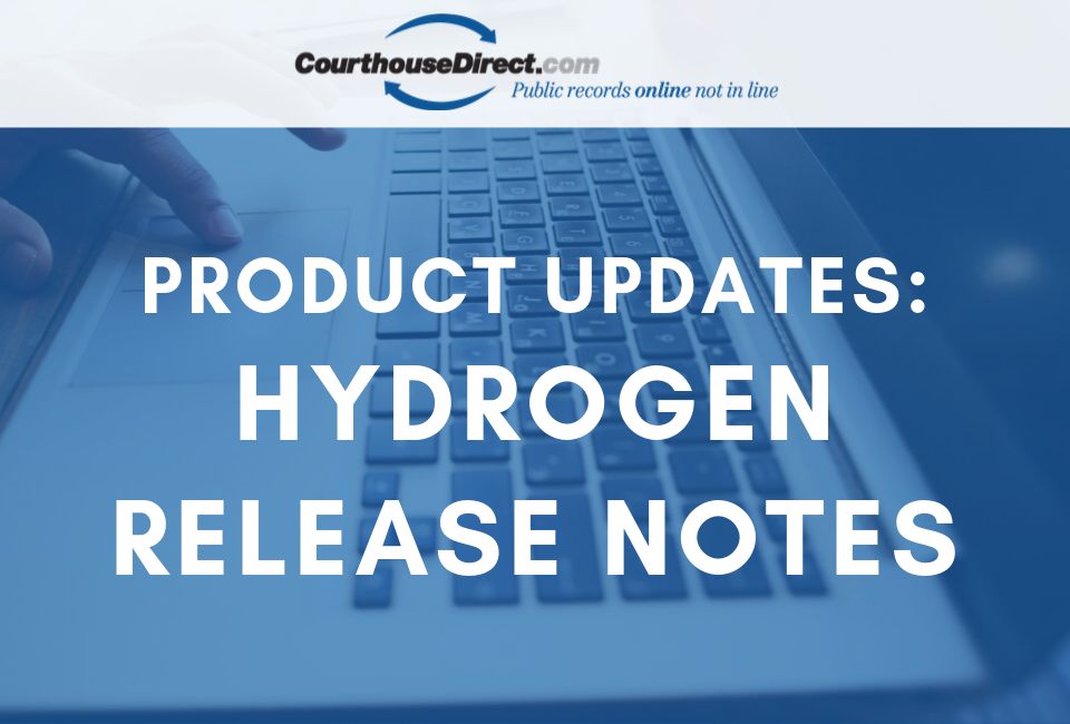 courthousedirect hydrogen release notes